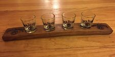 RARE Jack Daniel's Collector's Cask Wood Beer Shot Flight Paddle Tray