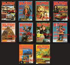MILITARY Modelling*  lot de x10 magazines 1996 & 1997 -  texte en anglais