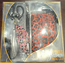 BEAUTIFUL FEATHER EARPHONES & FASHION PHONE CASE BY IHIP NEW NWT