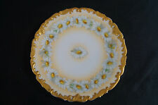 "T & V Limoges TRV18 Hand Coloured Daisies 8 1/4"" Plate Circa 1907 - 1919"