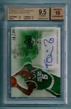 KEVIN GARNETT 2008 UPPER DECK DIAMOND CLUB AUTO /20 BGS 9.5 GEM MINT 10 AUTPO