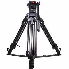 """V8 65"""" Video Camera Tripod Fluid Head Load 8KG For TILTA Red Scarlet Epic FS700"""