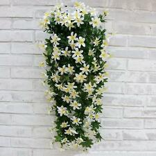 Artificial 5-Bunch Silk Hanging Plants Lily Flower Garland Party Decor White