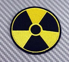 NUCLEAR RADIATION WARNING DANGER SIGN MEGADETH IRON PATCH SEW EMBROIDERED LOGO