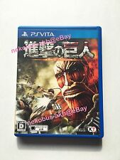 [Used] Attack on Titan [shingeki no kyojin] - PS Vita [Japan Import] [PSV]