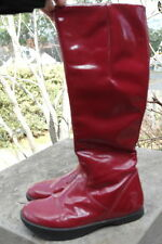 Kalso Earth Red Patent Tall Vegan Boots 7.5