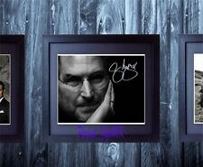 Steve Jobs SIGNED FRAMED AUTOGRAPHED 10x8 REPRO PHOTO PRINT Apple