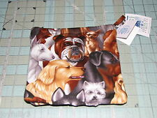 1 set of 2 Dog Dogs Pot Holders handmade made in maine Black backs breeds puppy