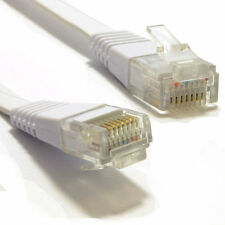 15m plat cat6 ethernet lan patch cable profil bas Gigabit RJ45 Blanc