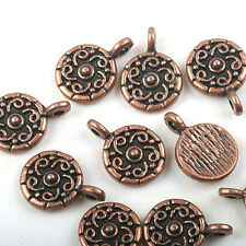 16pcs copper tone crafted flower charms findings H1939