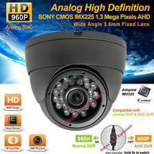 AHD 1280x960p 1.3M Pixels SONY Exmor Outdoor Wide Angle Night Vision CCTV Camera