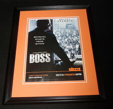 Boss 2011 Starz Framed 11x14 ORIGINAL Vintage Advertisement Kelsey Grammer