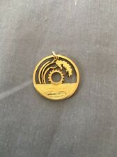 Pendant Charm Hand Cut From Japanese 5 Yen Coin