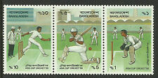BANGLADESH 1988 ASIA CUP CRICKET Strip of 3 Mint Never Hinged