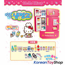 Hello Kitty Character Refrigerator Fridge w/ Food Accessories Toy Kids Children