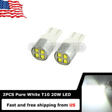 2PCS White 20W T10 912 W5W XBD CREE LED bulbs for Back up Marker Trunk Lights