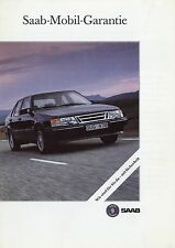 Prospekt Saab 900 9000 Mobil-Garantie Autoprospekt Auto PKW brochure broschyr