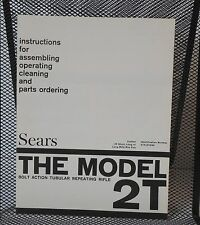 Sears Model 2T 22 Cal. Bolt Action Rifle Owner's Instruction Manual - 273.27530