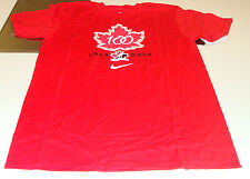 Team Canada 2015 World Juniors XL Hockey IIHF 100th Anniversary T Shirt Red