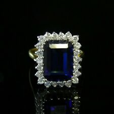 ART DECO TANZANITE PASTE RING 8ct TANZANITE