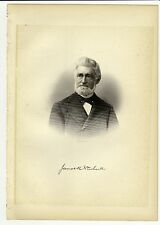 JAMES ROBINSON NEWHALL Lynn, Massachusetts MA Steel Engraving Portrait 1888