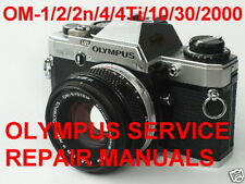 OLYMPUS CAMERA SERVICE REPAIR MANUALS COMPILATION OM 10 OM10 1 2 2n 4 4Ti Pdf CD