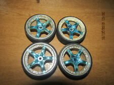 Tamiya set 4 wheels and tyres  hex fitting 1/10 scale