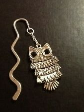 Animated owl book mark silver in colour