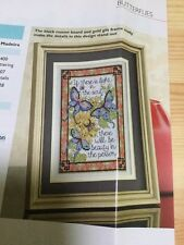 Butterflies Sampler Cross Stitch Chart - If There Is Light In The Soul