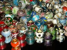 NEW Special VALUE 20/pcs MIXED GLASS charm, European Beads LOT
