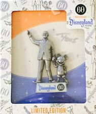 DISNEYLAND DIAMOND PIN CELEBRATION 60TH ARTIST SIGNED WALT & MICKEY JUMBO LE1000