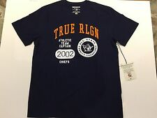 TRUE RELIGION MEN T-SHIRT BUDDHA CHAMPS CREW NAVY PREMIUM QUALITY NWT 2XL $79