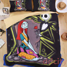 Nightmare Before Christmas Bedding Set Jack&Sally Duvet Cover King Size New Year