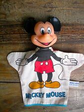 Vintage 1950's-1960 WDP- MICKEY MOUSE  Hand Puppet - Rubber Head with Cloth Body