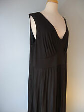 New NWT Lane Bryant Black Stretchy Pleated V-Neck Top Dress Women Size 22/24 2X
