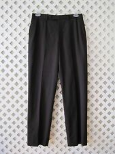 BROOKS BROTHERS 346 Dress Pants Size: 33/32 Men's Pleated Front 100% Wool Black