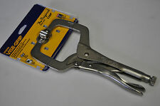 """Vise Grip 11SP 11""""Locking C Clamp with Swivel Pad  Made in USA  Rare"""