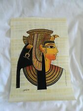 """Egyptian Papyrus Paper Painting Queen Cleopatra 9X13"""""""
