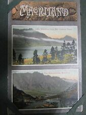 NEW ZEALAND MAORI CARVING LAKE WAKATIPU REMARKABLES ANTIQUE PHOTO POSTCARD