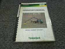 Timberjack 1010 Forwarder Skidder Owner Operator Maintenance Manual F047242