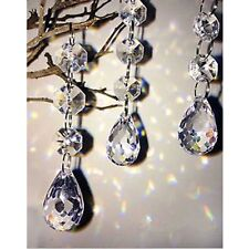 100Pcs Acrylic Crystal Bead Garland Chandelier Hanging Wedding Home Party Decor