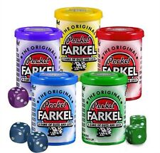 Pocket Farkel Classic Dice Game #6001 Travel Party Miniature Set Farkle Round