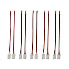 10X 10mm 2Pin einfarbig LED Strip Leiste Schnell Verbinder Adapter mit Kabel NEU
