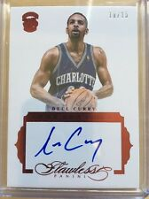 2015-16 15-16 Flawless DELL CURRY /15 Auto Autograph Ruby Premium Ink Panini