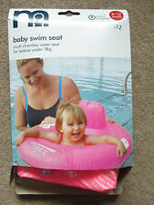 Mothercare Pink Inflatable Baby Swim Seat Physical Development 3 6 12 m 11kgs