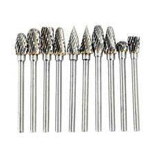 10pcs/set Tungsten Steel Carbide Grinding Bits Burr for Electric Rotary Grinder