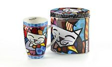 ROMERO BRITTO CHINA MUG IN A GIFT TIN- CAT DESIGN