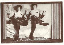 SHOW GIRLS in Fancy FENCING OUTFITS 19th Century MONTANA Repro Pic Postcard