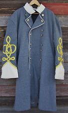 civil war confederate frock coat with 4 row braids with pleats 46