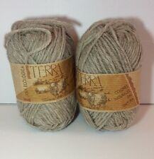 Katia Terra Yarn 100% Wool Worsted Lot Of 2 Skeins Ecological 4103 Natural 50g